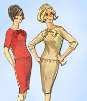 1960s Vintage McCalls Sewing Pattern 7494 Misses Mid Mod Dress Size 12 32 Bust