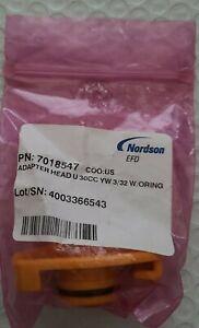 Nordson  7018547 Adapter Head  30cc  YW 3/32 w/O-Ring  NEWin factory bag