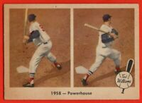 1959 Fleer #66 Ted Williams GOOD+ PIN HOLE HOF Boston Red Sox FREE SHIPPING