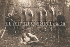 ANTIQUE REPRO 8 x 10 PHOTOGRAPH DEER HUNTER'S MEAT POLE SAVAGE MODEL 99