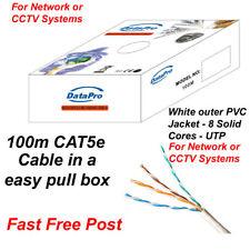 Mulinello Scatola Pull di 100m CAT5e CCA bianco interno o esterno Cavo di rete UTP 8 Core