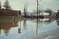 Vintage Photo Slide Onondaga Lake Parkway Flood New York 1993 April