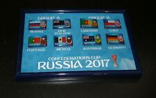 Set Pin Badges Confederation Cup 2017 Russia New Zeland Germany Australia Chile