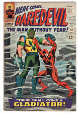DAREDEVIL (VB1) #18 Grade 6.0 Silver Age Marvel! 1st GLADIATOR appearance!