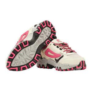 Fila Women's Trail Hiking Shoes White Pink New