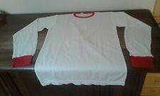 MAGLIA SHIRT VINTAGE '80 CALCIO FOOTBALL MATCH WORN BIANCO ROSSA RED WHITE