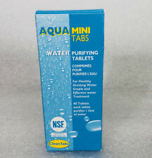 Aqua MINI Water Purifying Tablets 2 x PACKS of 40 Tabs Motorhome/Camper/Camping