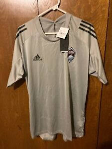 Adidas AeroReady MLS Colorado Rapids Soccer Training Jersey L Gray