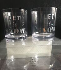 "Kate Spade New York ""Let It Snow"" Clear Acrylic Drinkware Set"