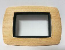 Placca legno Betulla Feb life 3P Compatibile con Bticino Livig International