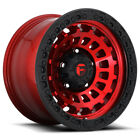 4-fuel D632 Zephyr 17x9 5x5 -12mm Redblack Wheels Rims 17 Inch
