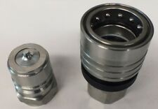 """TEMA  Hydraulic Quick Connect Coupling 1"""" Thread 4000PSI TRUCK and DOG Trailer"""