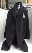 Hathaway Platinum Wool & Cashmere Italian Top Coat for Men, Charcoal, 42R