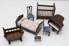 Wooden Bedroom Miniature Furniture Sets for Dolls