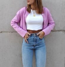ZARA Knit Pink Buttoned Cardigan Size L