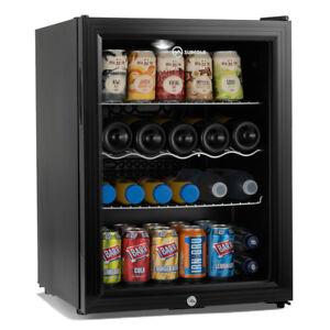 Subcold Super 65 LED Black | Wine & Beer Fridge | Mancave Home Bar