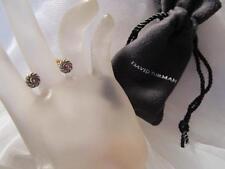 Vintage David Yurman Faceted Amethyst 18K Gold & Sterling Silver Cookie Earring