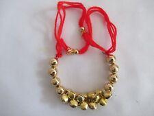 Fiore Gioielli Ghungroo Braccialetti con perline d'oro per le donne e ragazze-NT5