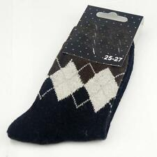 Winter Men Wool Blend Argyle Dark Gray Casual Dress Socks Sports SZ 10-13 o7