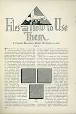 1925 Magazine Article Files & how to Use Them Tools Wood Metal Shop Workshop