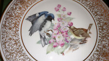 Lenox Boehm Birds Collectible Plate 1980 Black Throated Blue Warbler With Box