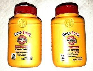 Gold Bond Original Strength Body Powder 1 Ounce Protection Dry Skin 2 Bottles