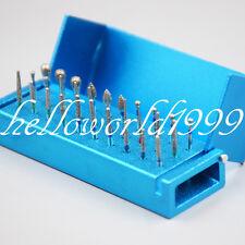 30pc Dental Diamond Burs Drill Disinfection + Block High Speed Handpieces Holder