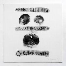 Lucia Marcucci  Aa Bb Cc 1977 Litografia firmata Poesia visiva