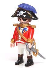 Playmobil Figure Pirate Ship Captain Military Uniform Skull Hat Sword 4293