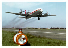 """INTERFLUG ILJUSCHIN / ILYUSHIN IL-18 POSTKARTE / POSTCARD MOTIV """"IL8 G"""""""