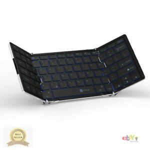 iClever Bluetooth Keyboard with 3-Color Backlight Bluetooth 5.1 Multi-Device