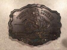 Vintage Livingston Wells & Co Metal Brass Tone Belt Buckle