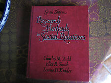 Research Methods in Social Relations Kidder, Louise, Judd, Charles M. Hardcover