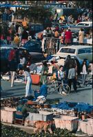 1970S BERKELEY FLEA MARKET ASHBY BART STATION LOT ORIG AMATEUR 35MM PHOTO SLIDE