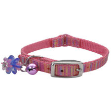 "COASTAL SAFE CAT LIL PALS PINK RIBBON BOW BELL 6-8"" COLLAR. FREE SHIP TO USA"