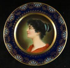"Antique Royal Vienna 9 7/8"" Portrait Plate. Beehive Mark. Lt. 19th cent"