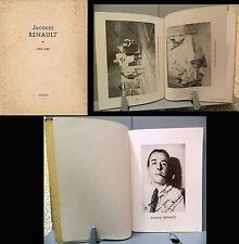 JACQUES RENAULT  par GEORGES TURPIN _ DEBRESSE _ 1950_ pittura francese _RARO