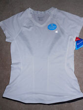 NWT Womens Champion Double Dry White and BlackWorkout Top Small
