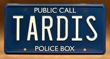 Doctor Who / TARDIS *Metal Stamped* Standard USA Size License Plate