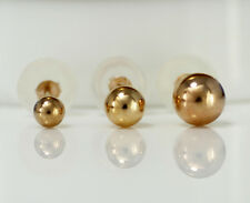 Lowest Price 10K Solid Rose Gold 4mm, 5mm, 6mm High Polished Ball Stud Earrings