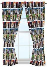 "Disney STAR WARS Window Panels Drapes curtains 82X63""~ with tie backs NEW"