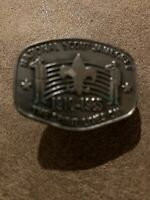 VINTAGE BSA BOY SCOUTS OF AMERICA 1910-1985 NATIONAL JAMBOREE  NECKERCHIEF SLIDE