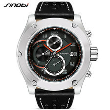 Waterproof Men Sport Chronograph Military Learher Wrist Watches For Luxury Brand