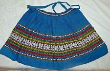 Vintage Guatemalan Apron Handwoven Cotton Multicolor Very Pretty! Child Size?