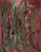 "Beautiful ""Green Goblin Vapor"", Original Art Painting Oils On Canvas Abstract"