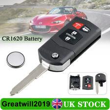 For Mazda 3 5 6 MX5 RX8 CX7 CX9 4 Button Remote Key Fob Case Repair + Battery