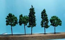 "Multi Scale Use-Model Tree Scenery-3 Pcs 4 3/8""-4 Pcs 3 9/16""-7 Dark Green Trees"