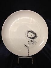 """BLOCK SPAIN ROSA 10 5/8"""" DINNER PLATE BLACK ROSE ON WHITE BIDASOA"""