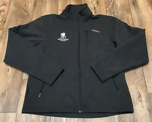 Wounded Warrior Project Under Armour Jacket Mens Medium Black GUC Embroidered