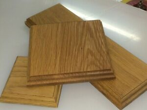 Solid Hard wood Oak display model base and plinths many sizes wooden bases